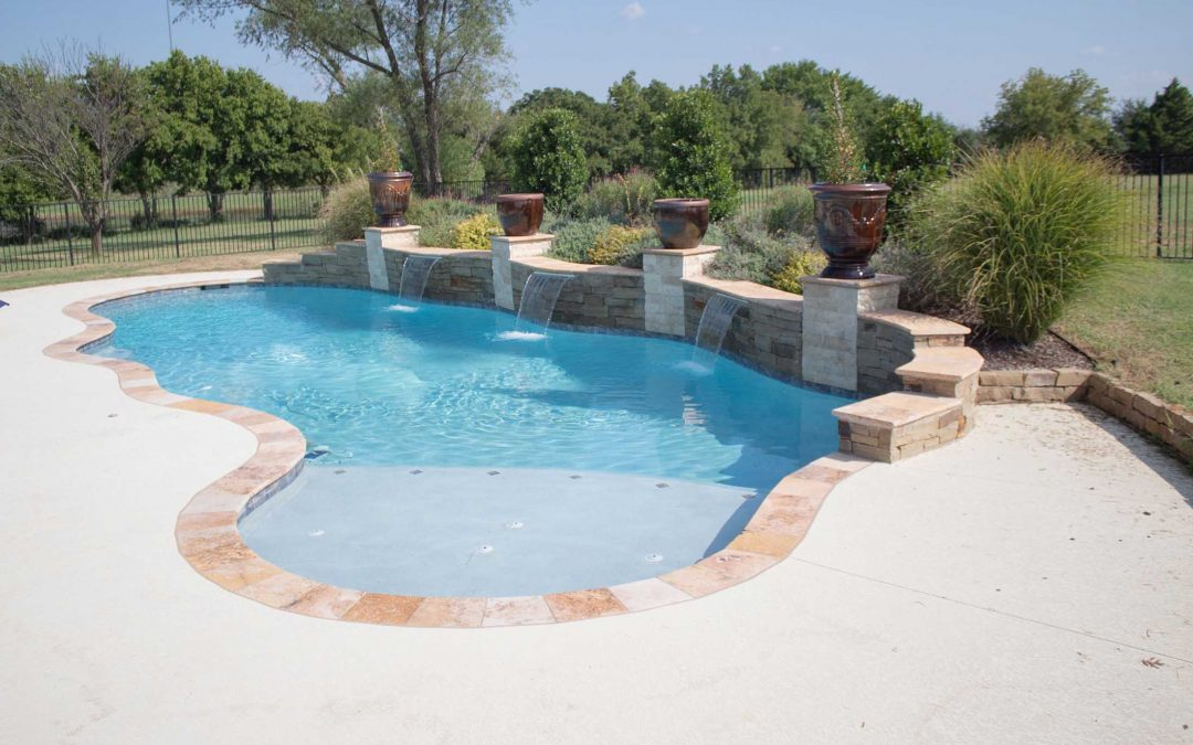 The Garden Pool Construction by Crystal Blue Pools